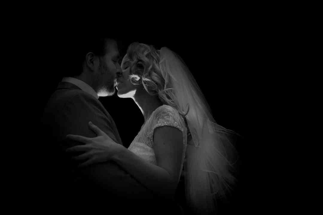 zwart-witfoto bruiloft