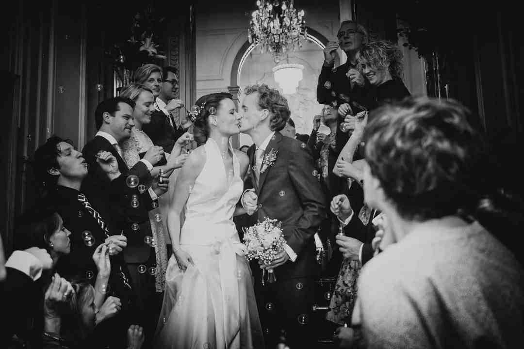 zwart-wit bruidsfotografie Amsterdam