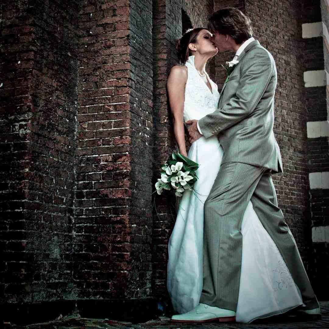 Morsch Poort Leiden trouwfoto bruidsfotografie