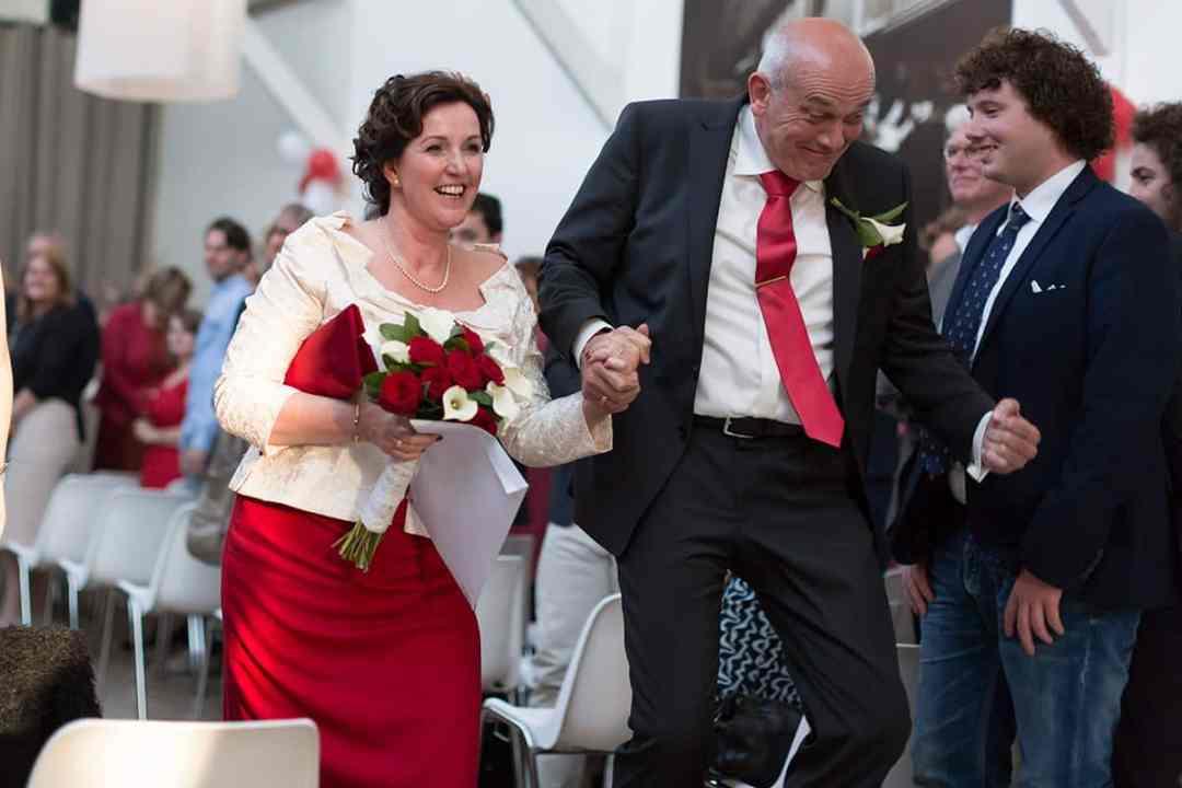 bruidsfoto huwelijksceremonie