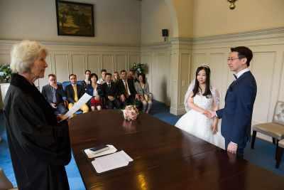 trouwen gemeentehuis Heemstede trouwfoto