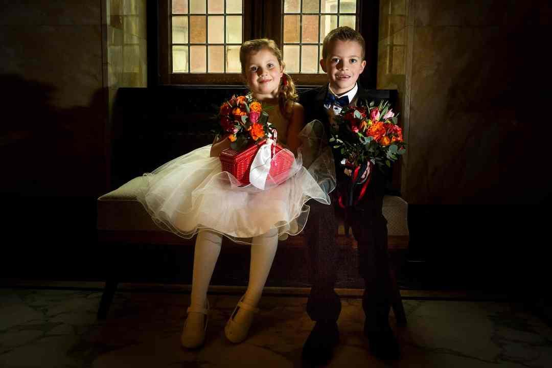 trouwfoto bruidskinderen