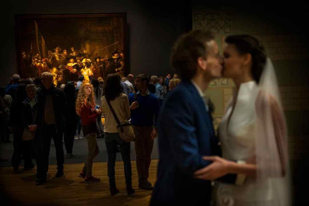 bruidsfotografie Rijksmuseum Amsterdam