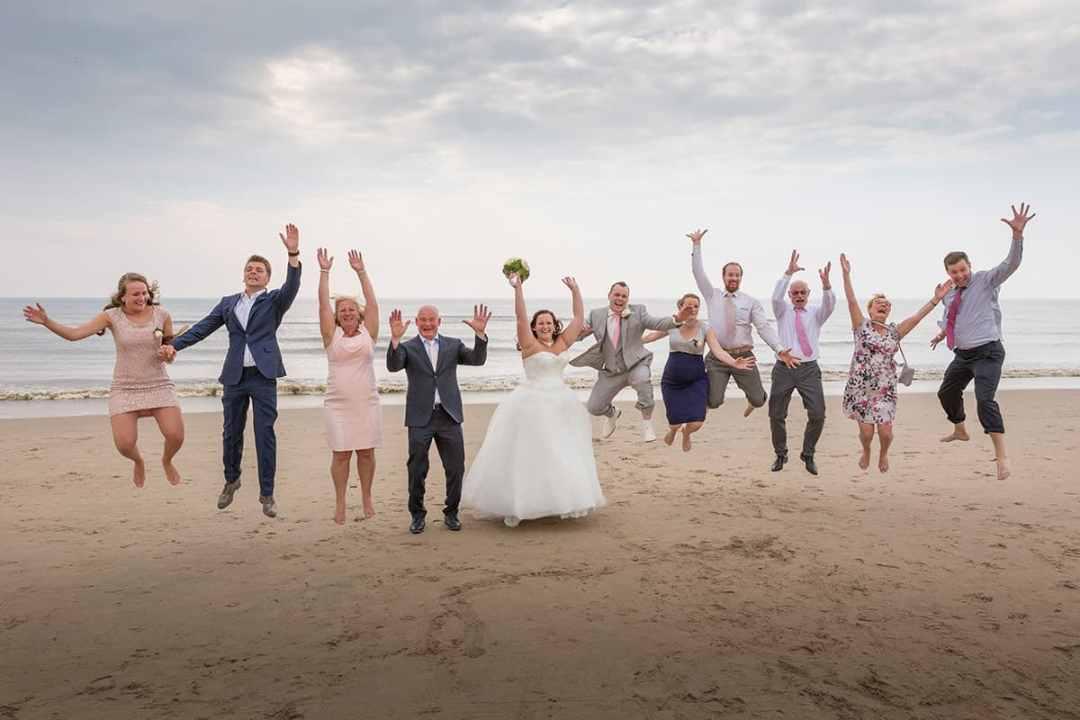 familiefoto trouwdag bruiloft