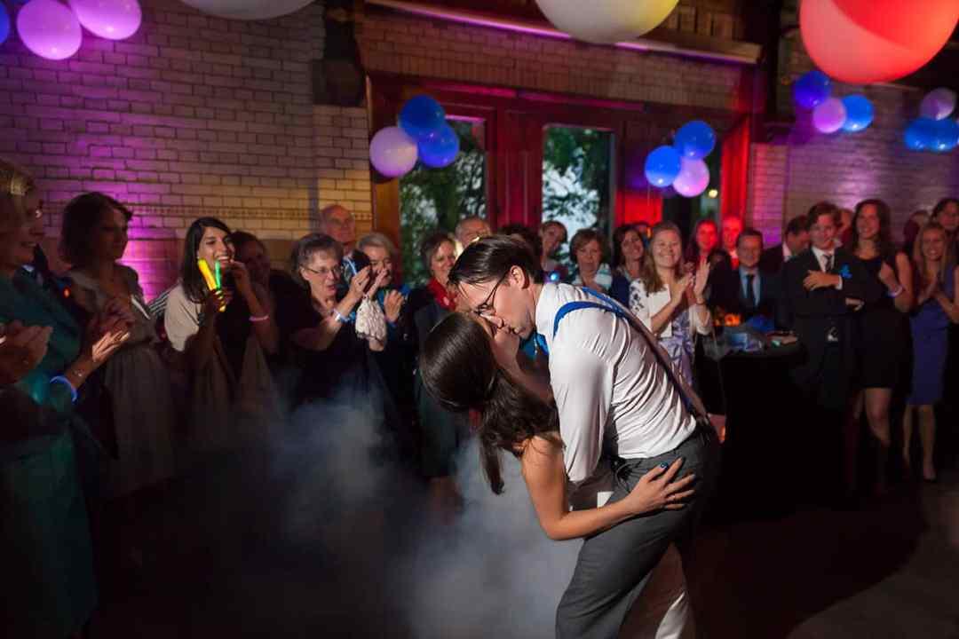 feestavond trouwfoto's