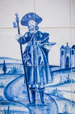Sint-Jacob afgebeeld op azulejos