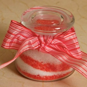 candy cane bath salts