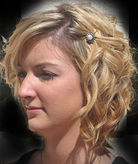 Curly hair styles - The Twist