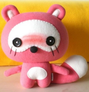 felt crafting tutorials raccoon doll