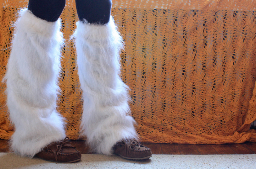 How to Make Furry Faux Fur Leg Warmers