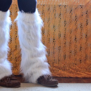 How to Make Furry Faux Fur Leg Warmers