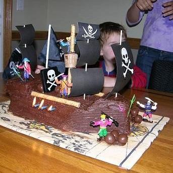 How to make a pirate ship cake Mookychick