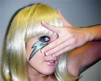 lada gaga lightning bolt makeup tutorial
