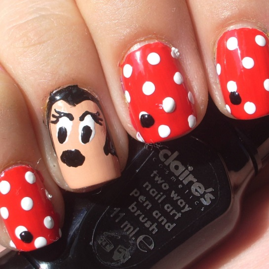 Minnie mouse nail art tutorial minnie mouse nail art prinsesfo Choice Image