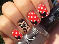 Nail art designs - Minnie Mouse