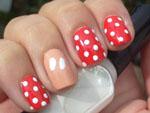 Nail art designs - Minnie Mouse