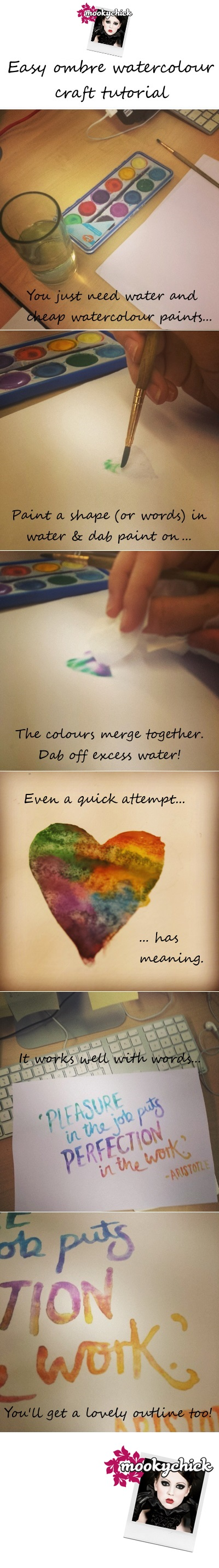 rainbow watercolour craft