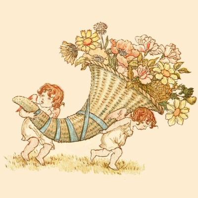 Victorian cornucopia of roses