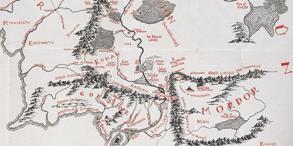 tolkien map