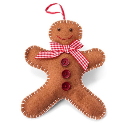 this tutorial is from make your own christmas tree decorations - Gingerbread Man Christmas Decorations