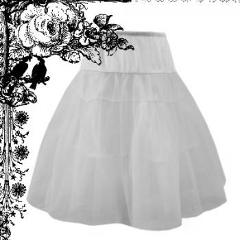 gothic-white-tulle-skirt