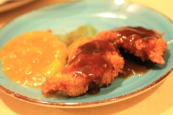 chicken katsu strips recipe
