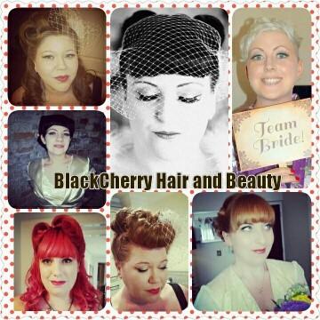 BlackCherry vintage hairstyles