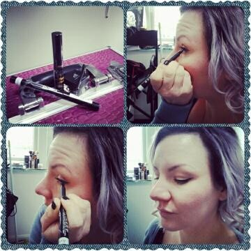 how to do vintage winged eyeliner using a pen liner