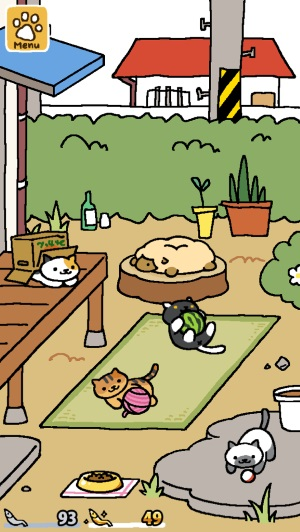neko atsume screengrab