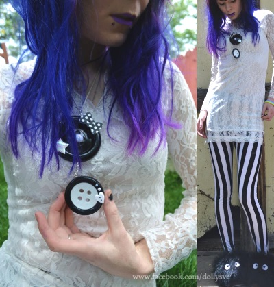 pastel goth clothing plastic and bows giant buttons