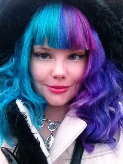 rainbow hair split dye