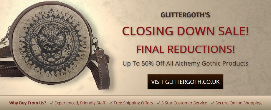 gothic jewellery closing down sale