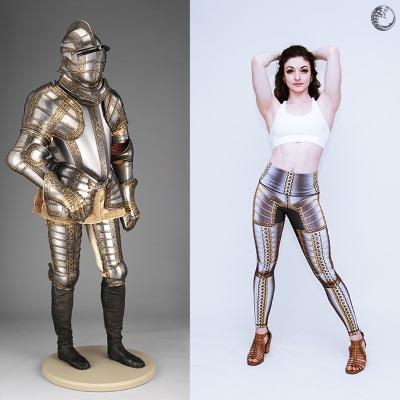 Medieval armour leggings