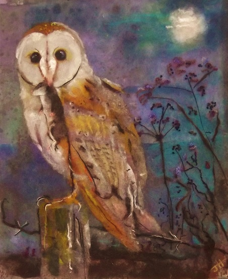 Wool Art Barn Owl