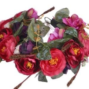 flower garland close up