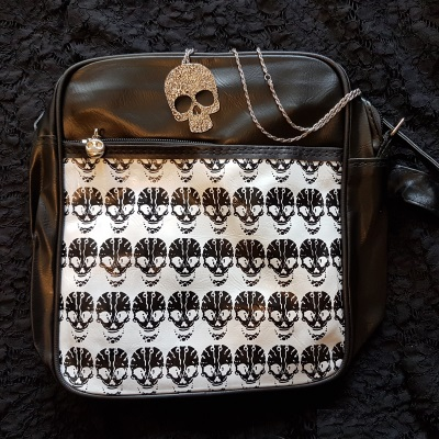skull bag necklace