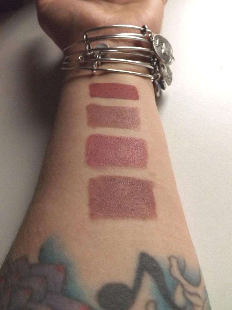 Lunatick lipstick swatches