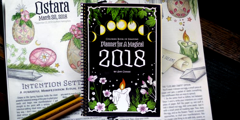coloring book of shadows planner 2018 review