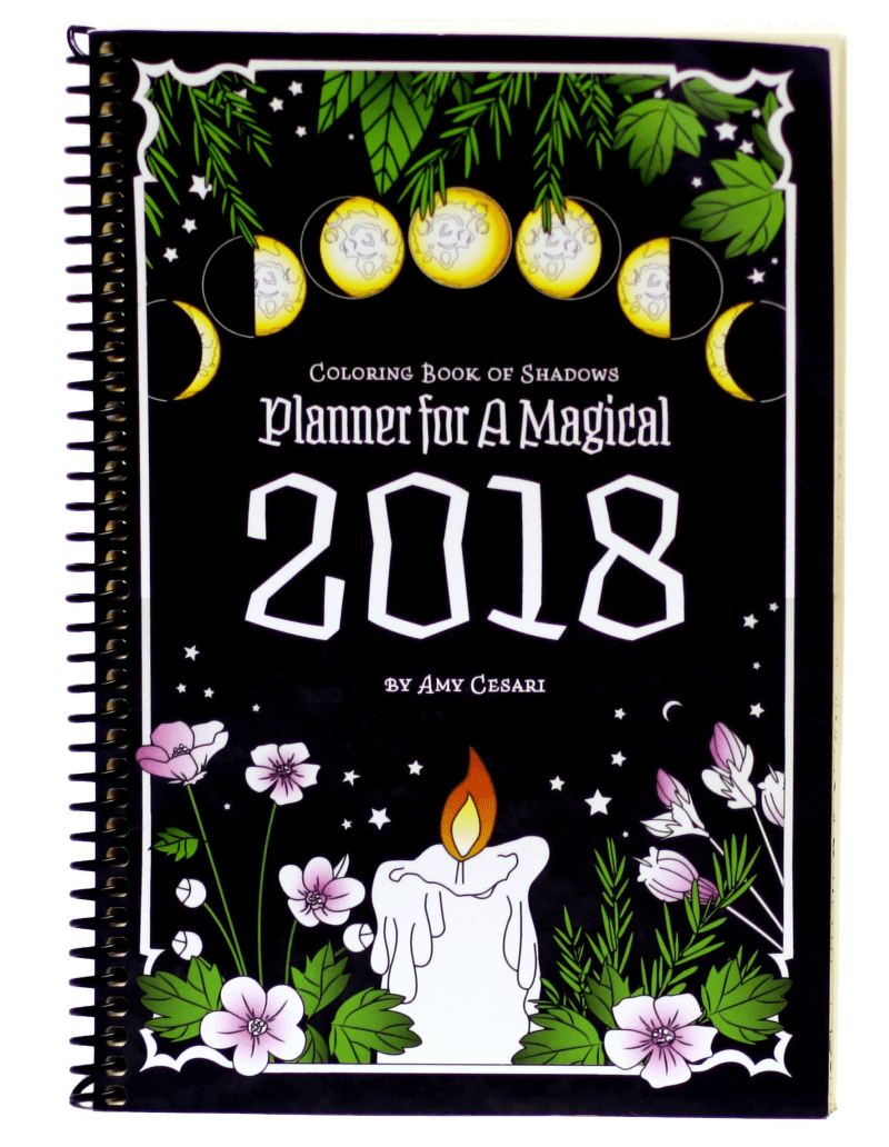 Coloring Book of Shadows Planner