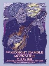 M727 › 7/25/14 Midnight Ramble at The Barn / Levon Helm Studios, Woodstock, NY poster by Gary Houston