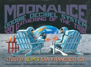 M954 › 4/20/17 420 Gathering of the Tribe, Slim's, San Francisco, CA poster by Christopher Peterson with Doobie Decibel System