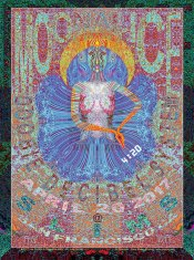 M957 › 4/20/17 420 Gathering of the Tribe, Slim's, San Francisco, CA poster by Lee Conklin with Doobie Decibel System