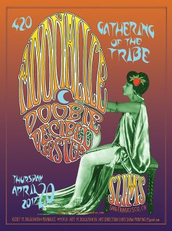 M950 › 4/20/17 420 Gathering of the Tribe, Slim's, San Francisco, CA poster by Mike Dolgushkin with Doobie Decibel System