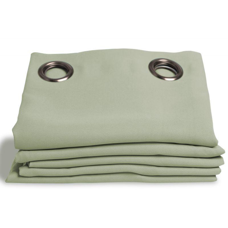 rideau occultant aspect pique coton vert amande rideaux moondream