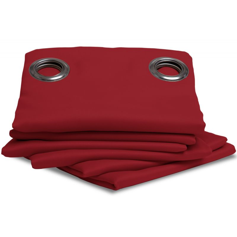 rideau occultant uni rouge rideaux moondream