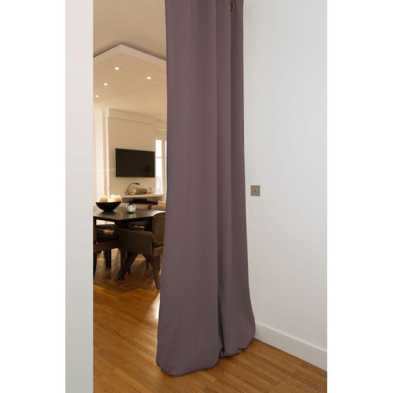 warm grey soundproof room divider
