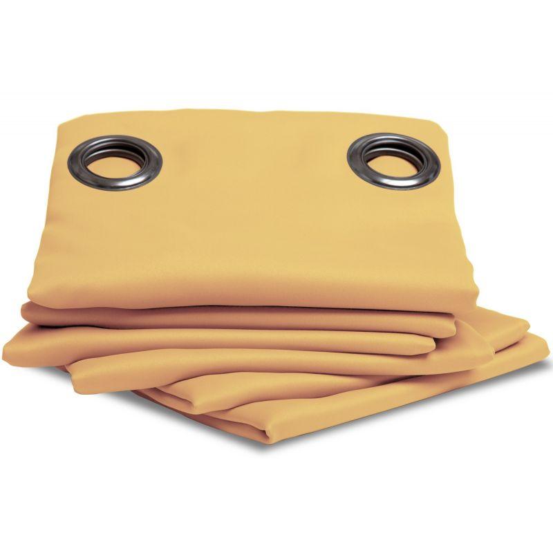 rideau occultant uni jaune mais rideaux moondream