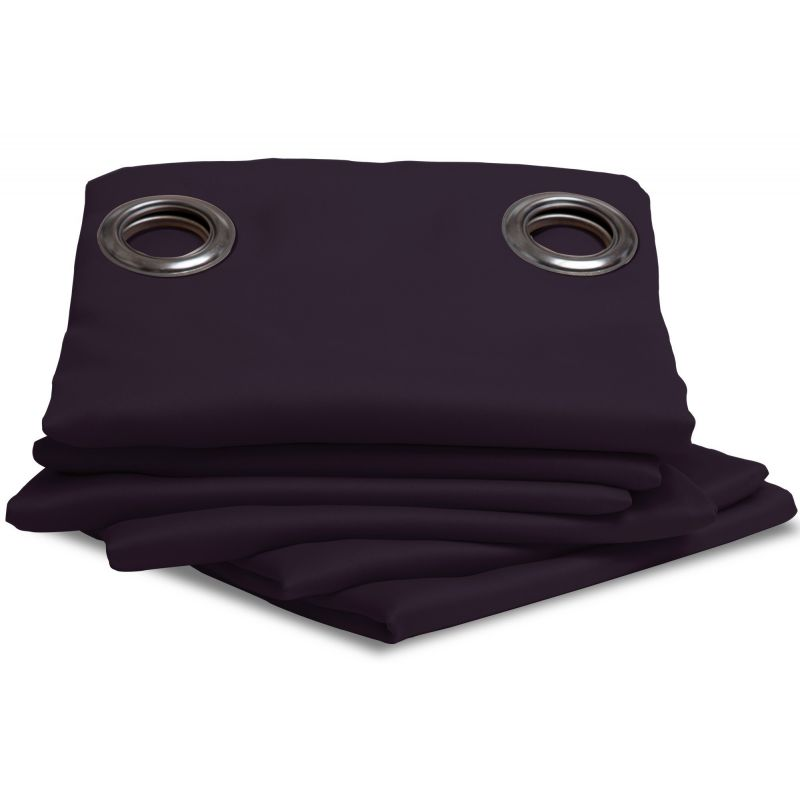 rideau thermique et occultant violet aubergine rideaux moondream