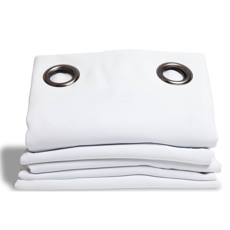 rideau thermique et occultant aspect pique coton blanc rideaux moondream
