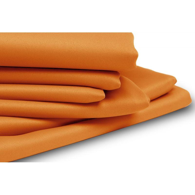 rideau occultant sur mesure uni orange
